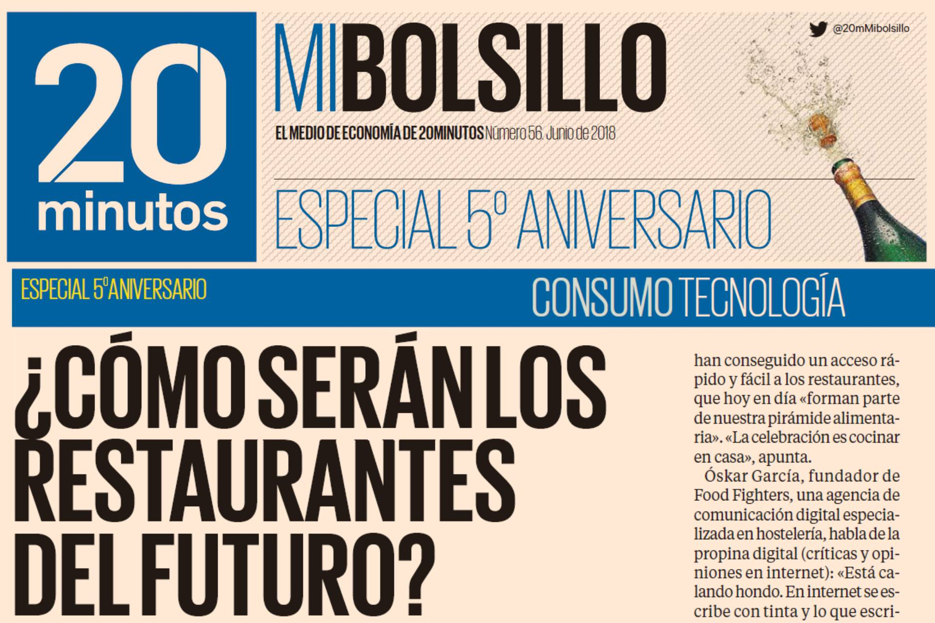 Diario 20 minutos entrevista a Food Fighters, Oskar García y Mari Carmen Mas